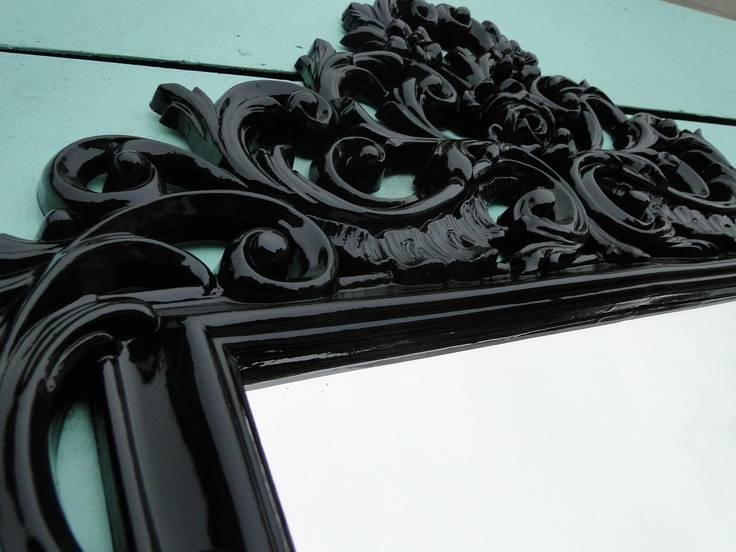 Best 25+ Gothic Mirror Ideas On Pinterest | Black Dressing Tables Intended For Large Black Vintage Mirrors (#13 of 30)