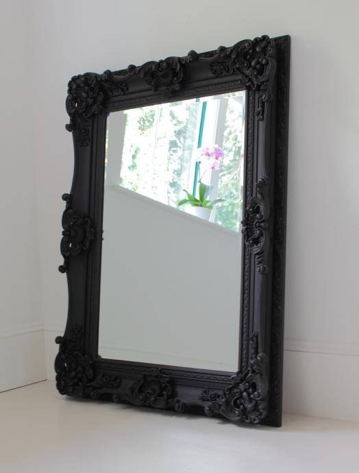 Best 25+ Large Black Mirror Ideas On Pinterest | Vintage Fireplace For Baroque Black Mirrors (#8 of 20)