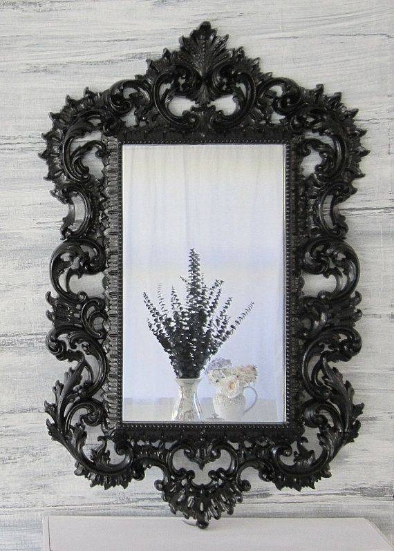 Best 25+ Large Black Mirror Ideas On Pinterest | Vintage Fireplace With Regard To Large Black Ornate Mirrors (View 13 of 30)