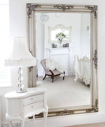 Best 25+ Large Standing Mirror Ideas On Pinterest | Floor Mirrors Pertaining To White French Mirrors (#15 of 20)