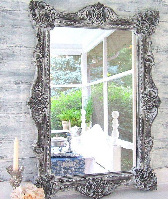 Best 25+ Large White Mirror Ideas Only On Pinterest | White Mirror Pertaining To Grey Vintage Mirrors (#12 of 20)