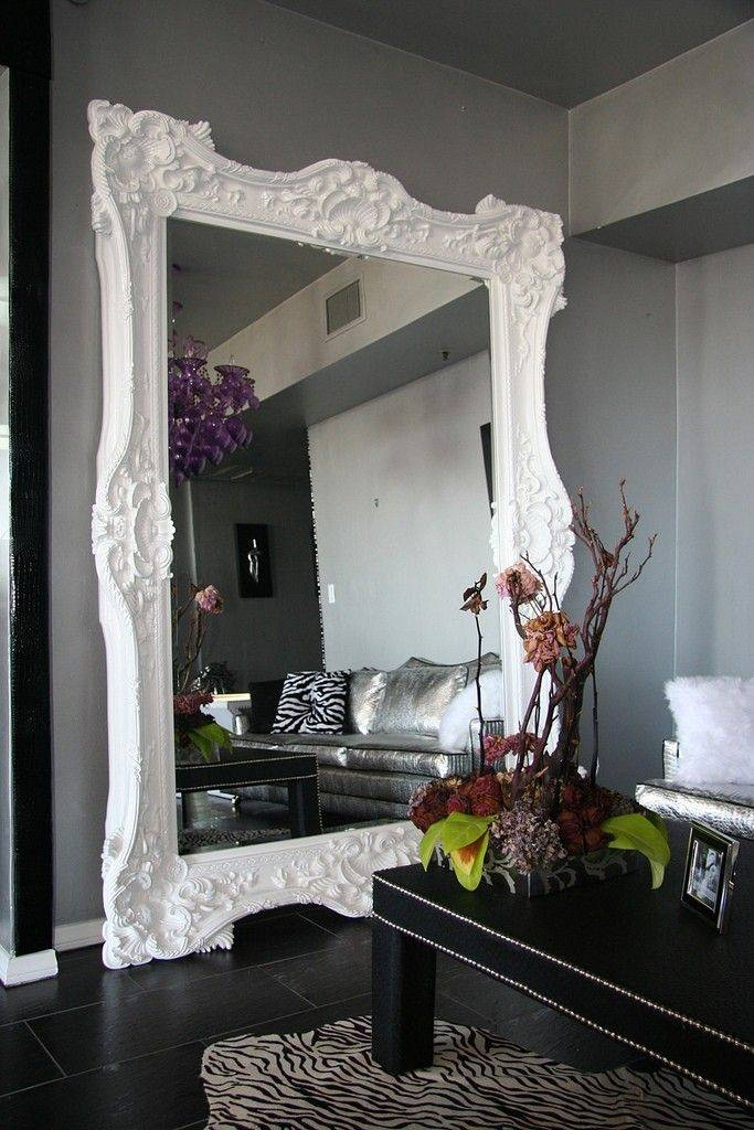 Best 25+ Large White Mirror Ideas Only On Pinterest | White Mirror Pertaining To Large White Rococo Mirrors (#15 of 30)