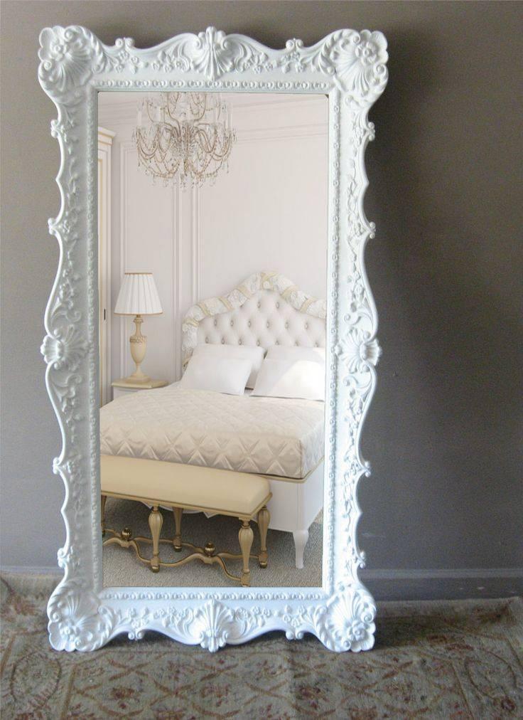 Best 25+ Leaning Mirror Ideas On Pinterest | Floor Mirror, Floor Regarding Big White Mirrors (#18 of 20)