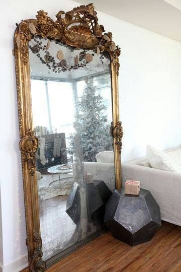 Best 25+ Leaning Mirror Ideas On Pinterest | Floor Mirror, Floor With Regard To Big Antique Mirrors (#11 of 20)