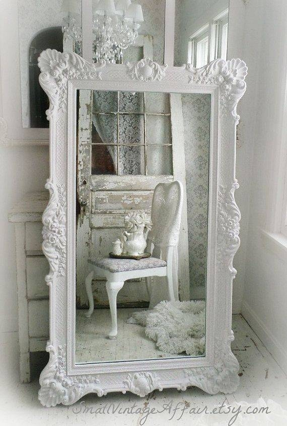 Popular Photo of Shabby Chic Floor Standing Mirrors