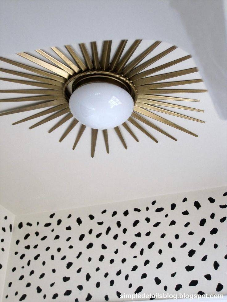 Best 25+ Light Fixture Makeover Ideas On Pinterest | Diy Bathroom In Ceiling Light Mirrors (#6 of 15)