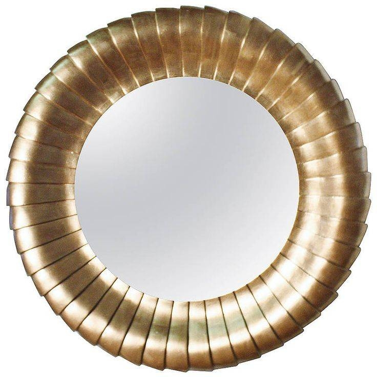 30 best ideas of large round gold mirrors