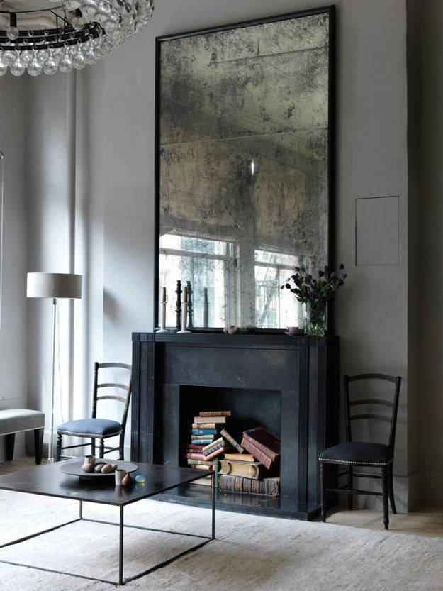 Best 25+ Mantle Mirror Ideas On Pinterest | Fireplace Mirror Within Large Black Mirrors (#18 of 30)