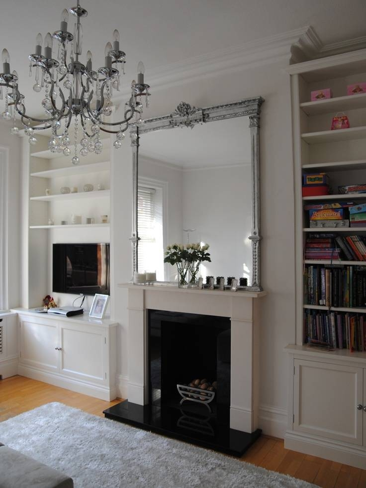 Popular Photo of Large Mantel Mirrors