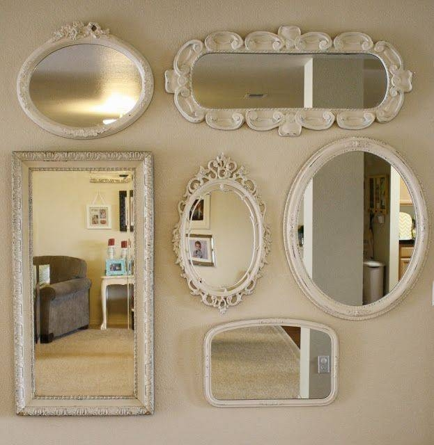 Best 25+ Mirror Gallery Wall Ideas On Pinterest | Wall Of Mirrors With Old  Fashioned