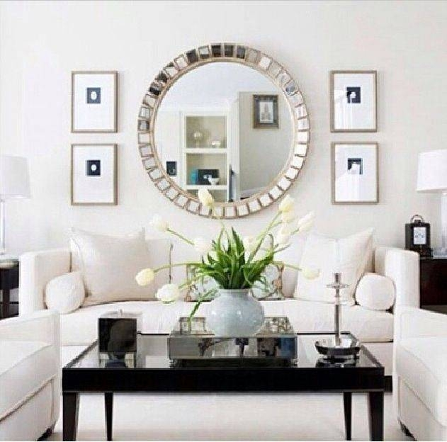 Best 25+ Mirror Over Couch Ideas On Pinterest | Diy Mirror, Cheap With Regard To Unique Round Mirrors (#14 of 30)