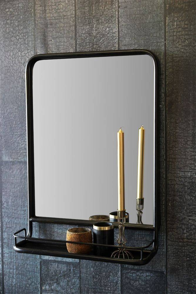 Best 25+ Mirror With Shelf Ideas On Pinterest | Pallet Mirror Throughout Black Oval Wall Mirrors (View 18 of 20)