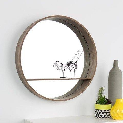 Best 25+ Mirror With Shelf Ideas On Pinterest | Pallet Mirror Within Mirrors Circles For Walls (#11 of 30)