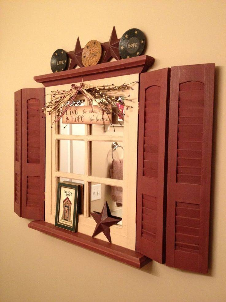Best 25+ Old Window Shutters Ideas On Pinterest | The Shutter, Old In Wall Mirrors With Shutters (#7 of 20)