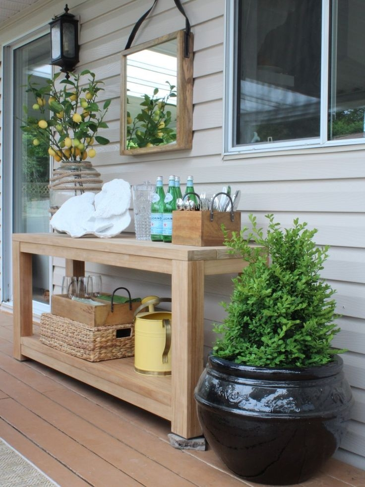Best 25 Outdoor Console Table Ideas Only On Pinterest Diy Sofa For Patio Sofa Tables (View 14 of 15)