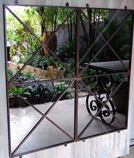 Best 25+ Outdoor Mirror Ideas On Pinterest   Garden Mirrors Within Metal Garden Mirrors (#14 of 30)