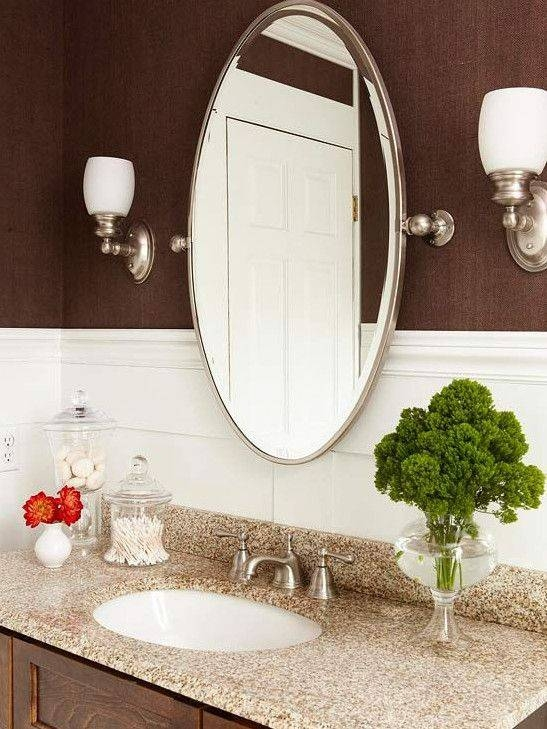 Best 25+ Oval Bathroom Mirror Ideas On Pinterest | Half Bath With Regard To Small Bevelled Mirrors (#12 of 30)