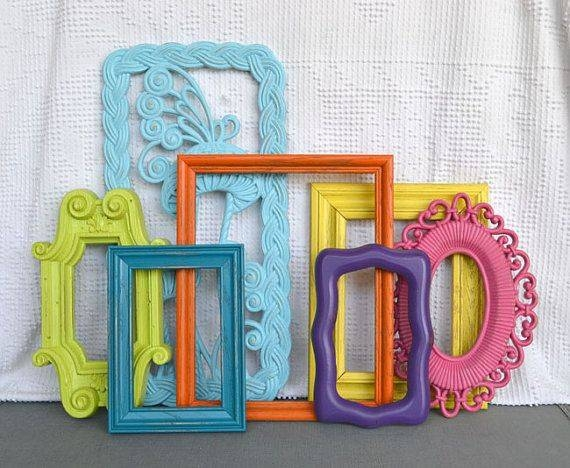 Best 25+ Painted Frames Ideas On Pinterest | Painting Frames Inside Bright Coloured Mirrors (#12 of 20)