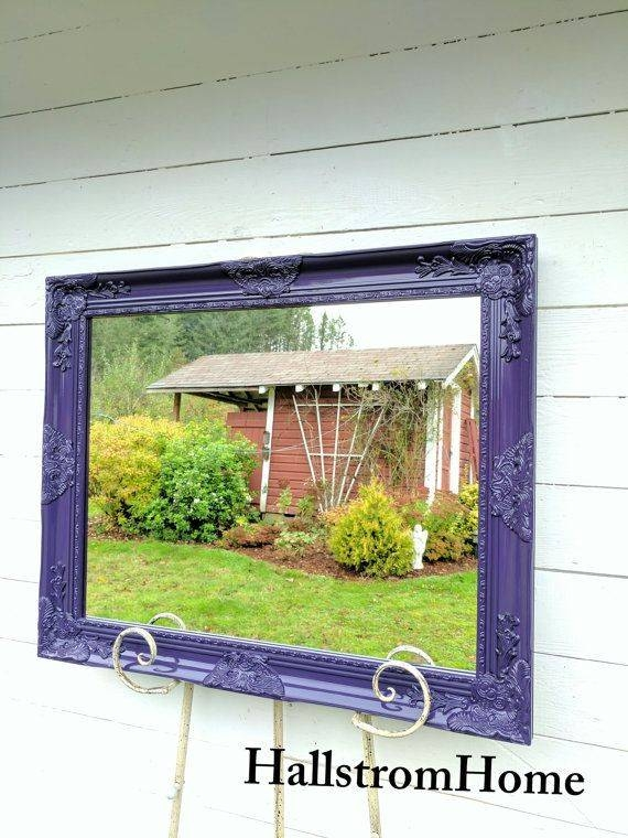 Best 25+ Purple Bathroom Mirrors Ideas Only On Pinterest | Purple Within Shabby Chic Large Wall Mirrors (#8 of 20)
