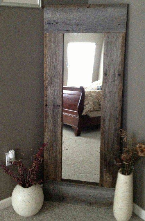 Best 25+ Reclaimed Wood Mirror Ideas Only On Pinterest | Pallet Throughout Cheap Huge Mirrors (#20 of 30)