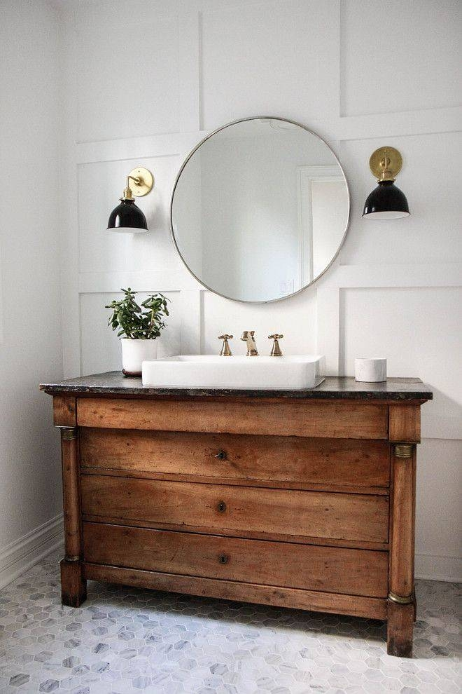 Best 25+ Round Bathroom Mirror Ideas On Pinterest | Minimal Regarding Antique Mirrors For Bathrooms (View 19 of 20)