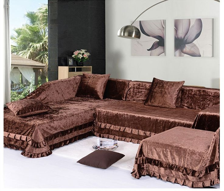 Popular Photo of Slipcover For Leather Sectional Sofas