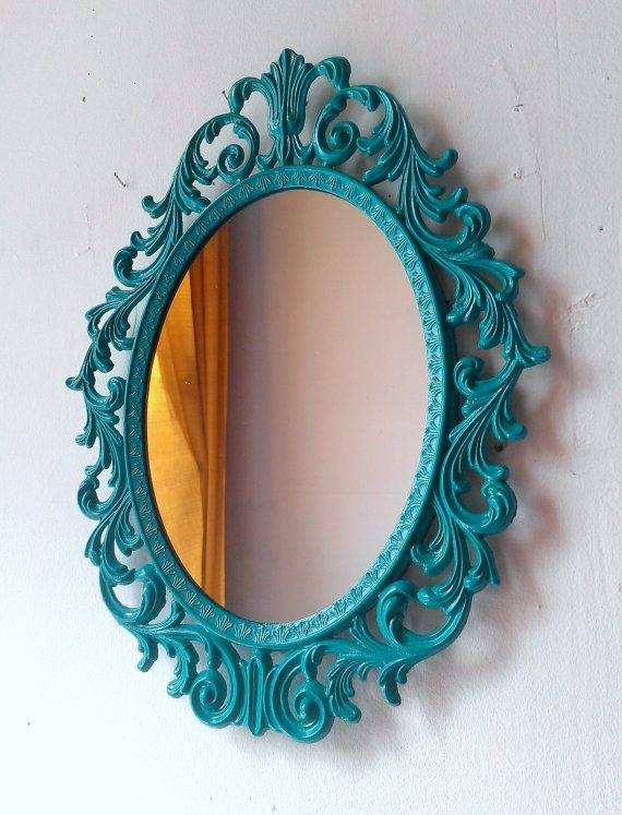 Best 25+ Teal Mirrors Ideas On Pinterest | Teal Bathroom Mirrors Inside Mirrors With Blue Frame (View 8 of 20)