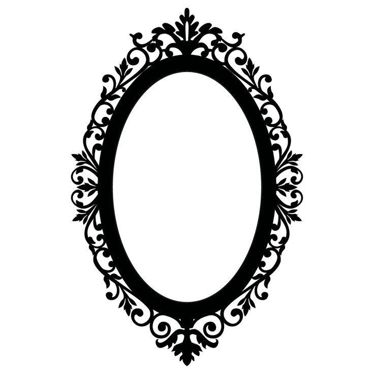 Best 25+ Victorian Frame Tattoos Ideas On Pinterest | Cameo Frame Inside Black Vintage Mirrors (#18 of 30)