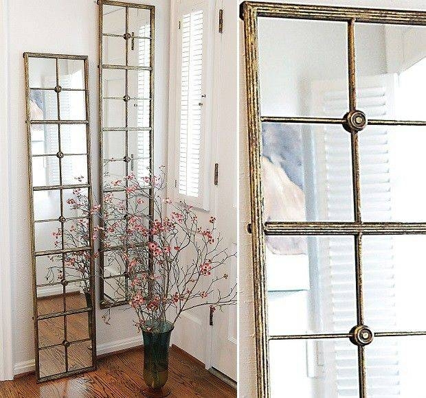 Best 25+ Window Pane Mirror Ideas On Pinterest | Windows Decor With Regard To Long Decorative Mirrors (View 23 of 30)