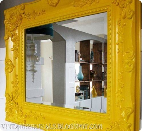 Best 25+ Yellow Framed Mirrors Ideas On Pinterest | Yellow Wall Inside Bright Coloured Mirrors (#15 of 20)