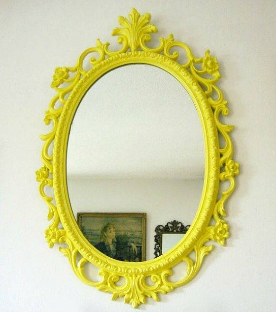 Best 25+ Yellow Framed Mirrors Ideas On Pinterest | Yellow Wall Throughout Bright Coloured Mirrors (#16 of 20)