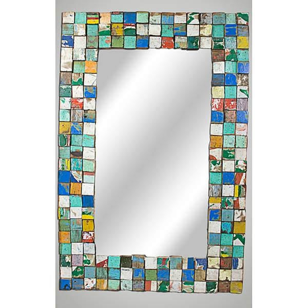 Best Mosaic Mirror Photos 2017 – Blue Maize Inside Large Mosaic Mirrors (#7 of 30)