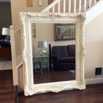 Best Ornate Shabby Chic White Mirror Products On Wanelo Inside Large Ornate White Mirrors (View 2 of 20)