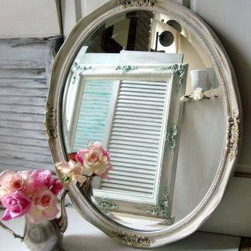 Best Ornate Shabby Chic White Mirror Products On Wanelo With Regard To Oval Shabby Chic Mirrors (View 6 of 20)