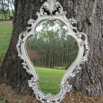 Best Ornate Shabby Chic White Mirror Products On Wanelo Within Vintage Ornate Mirrors (#11 of 15)