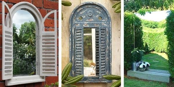 Best Outdoor Garden Wall Mirrors 17 Best Ideas About Outdoor With Wall Mirrors With Shutters (#9 of 20)