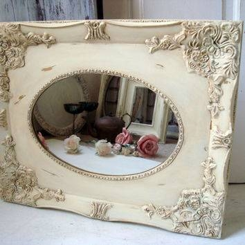 Best Shabby Chic Vintage Mirror Products On Wanelo For Distressed Cream Mirrors (#15 of 30)