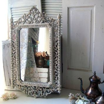 Best Shabby Chic Vintage Mirror Products On Wanelo For Large Ornate White Mirrors (View 10 of 20)