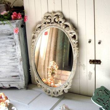 Best Shabby Chic Vintage Mirror Products On Wanelo Within Antique White Oval Mirrors (View 10 of 20)