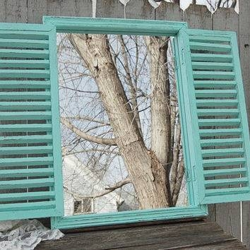 Best Shabby Chic Wall Mirrors Products On Wanelo With Window Shutter Mirrors (#12 of 30)