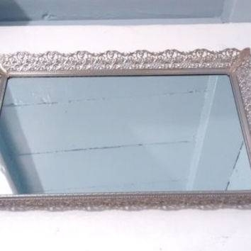 Best Silver Vanity Tray Products On Wanelo In Large Silver Vintage Mirrors (#22 of 30)