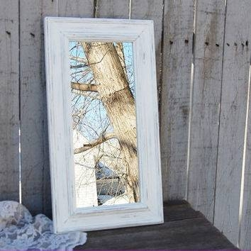 Best Upcycled Mirror Products On Wanelo Pertaining To Shabby Chic White Distressed Mirrors (#23 of 30)
