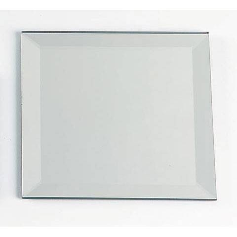 Bevel Edge Glass Mirror Square 4 Inch In Square Bevelled Mirrors (View 12 of 15)