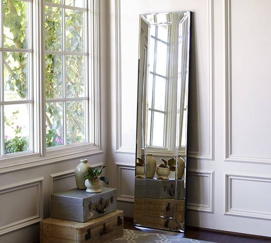 Bevel Floor Mirror | Pottery Barn Inside Beveled Full Length Mirrors (#9 of 20)