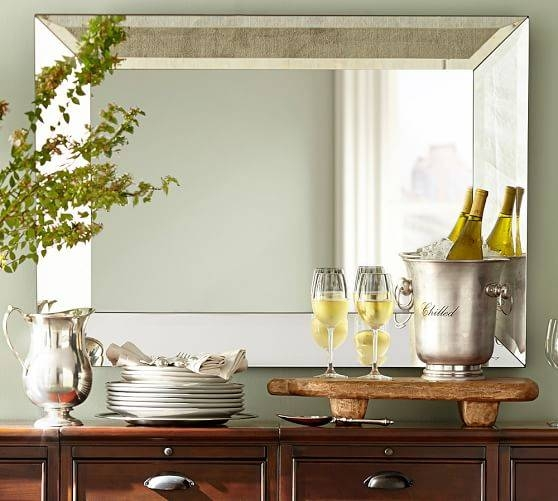 Bevel Rectangular Mirrors | Pottery Barn For Small Bevelled Mirrors (#15 of 30)