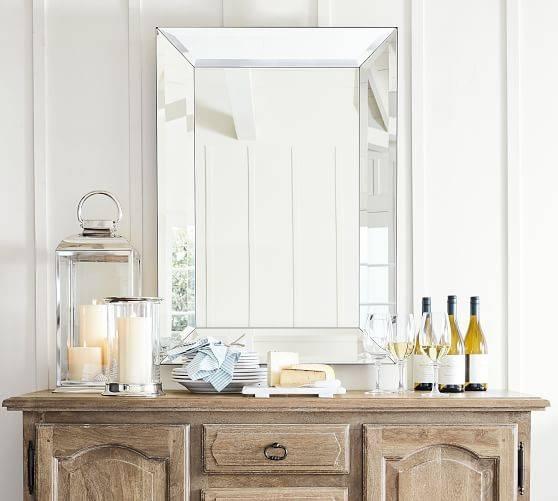 Bevel Rectangular Mirrors | Pottery Barn Intended For Bevel Mirrors (#7 of 20)