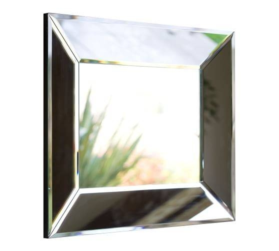 Bevel Rectangular Mirrors | Pottery Barn Pertaining To Square Bevelled Mirrors (#5 of 15)