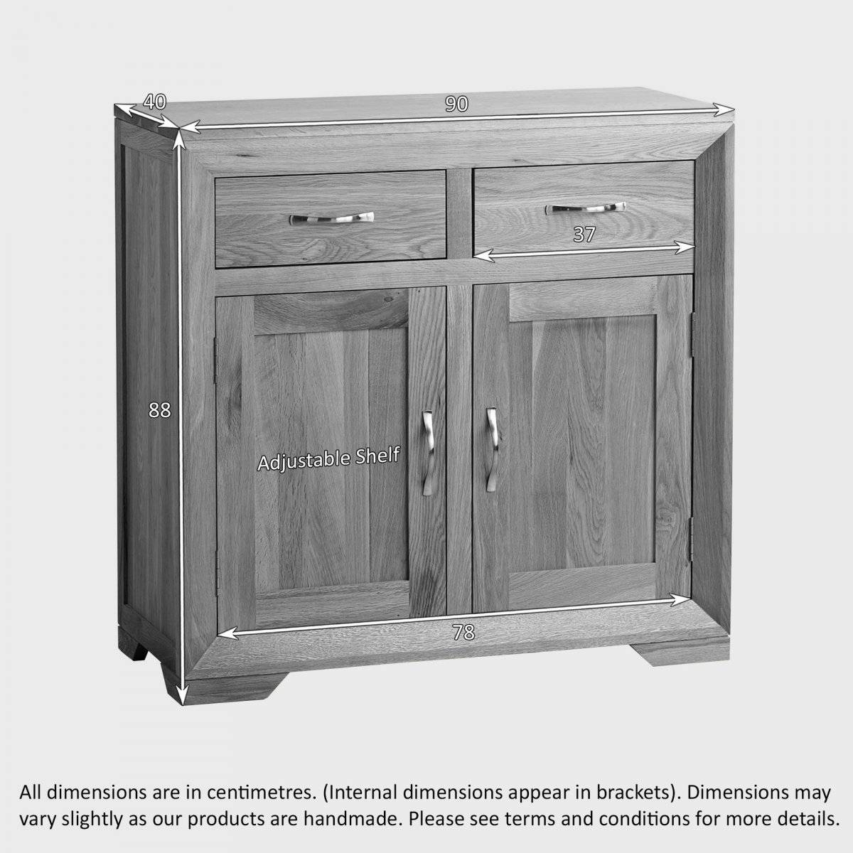 Bevel Small Sideboard In Natural Solid Oak | Oak Furniture Land In Sideboard Small (#4 of 20)