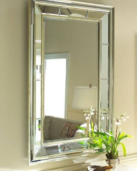 Beveled Glass Mirror | Horchow For Bevelled Glass Mirrors (#9 of 20)