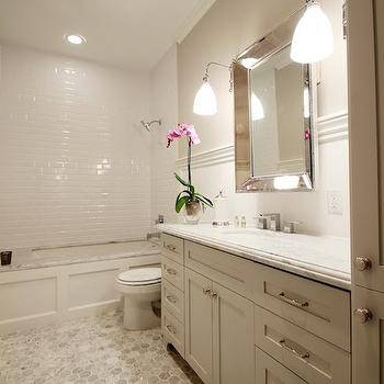 Beveled Mirror – Transitional – Bathroom – Martensen Jones Interiors Inside Venetian Beaded Mirrors (#8 of 30)